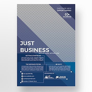 Blue corporate flyer template, Brochura, Design, Flyer PNG e PSD