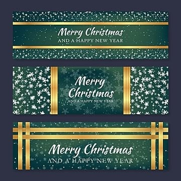 Gold Christmas Banners