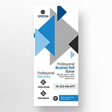 30x70 inch corporate roll up banner