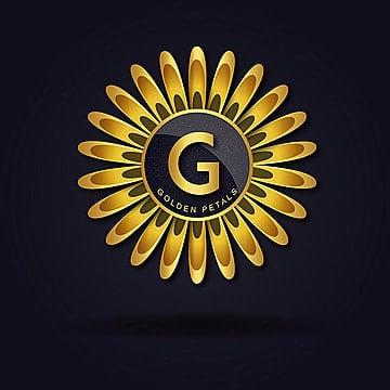 'G' Golden Petal Vector amazing alphabet logo designs