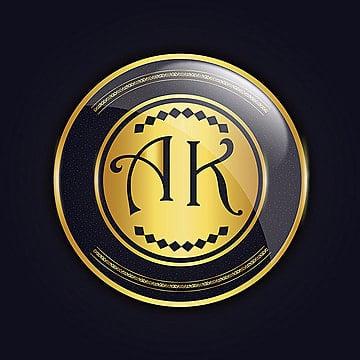 'AK' Royal Vector amazing alphabet logo designs