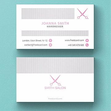 Hairdresser business card template