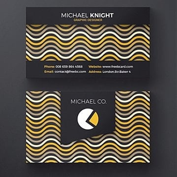Wavy business card template