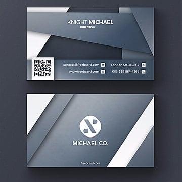 Grey corporate business card template