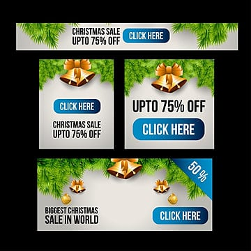 Christmas sale set of banners