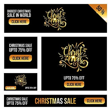 Christmas sale card with dark background