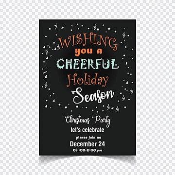 Wishing you a cheerful holiday season invitation card