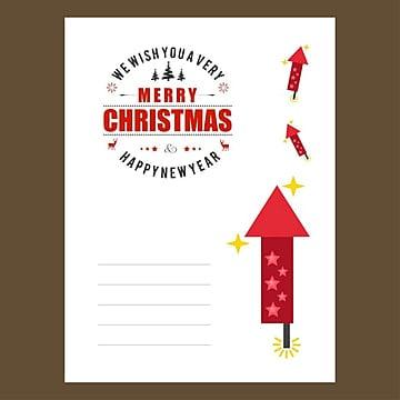 Christmas invitation envlope design