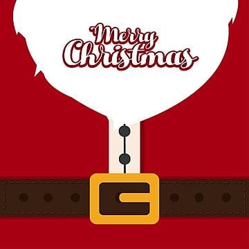 Christmas card with santa clause dress