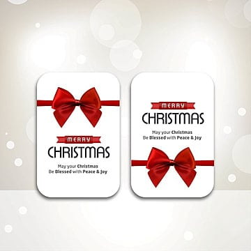 Christmas card with white background