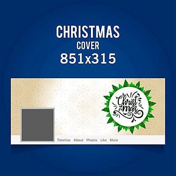 Christmas facebook cover eps