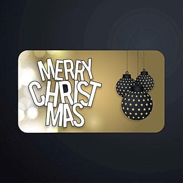 Christmas greetings card with balls