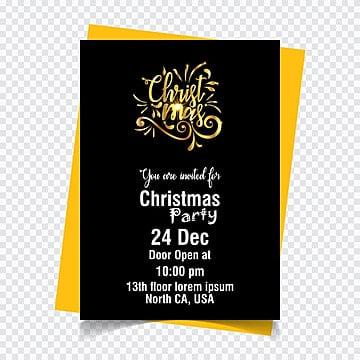 Christmas invitation card dark