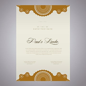 Elegante invitación de boda