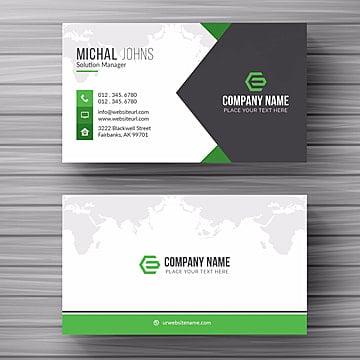 بطاقة الأعمال الخضراء مع التفاصيل