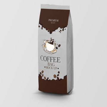 Coffee bag packaging psd mock up