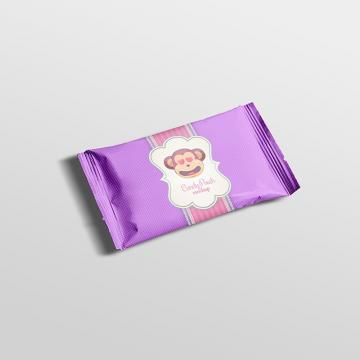 Candy pouch packaging psd mock up