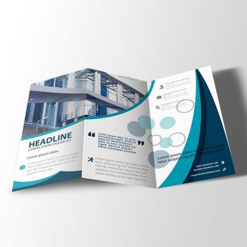 Z fold brochure design psd mock up