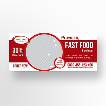 Fast - food, outdoor banner