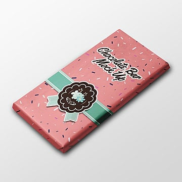 Chocolate bar packaging mock up