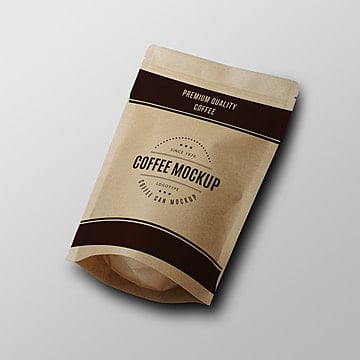 Paper coffee bag psd mock up