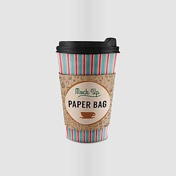 Takeaway paper cup psd mock up