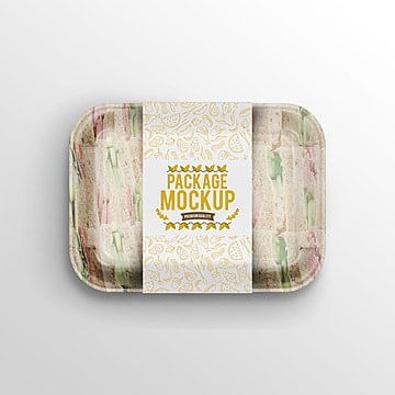ready made food container packaging psd mock up Template