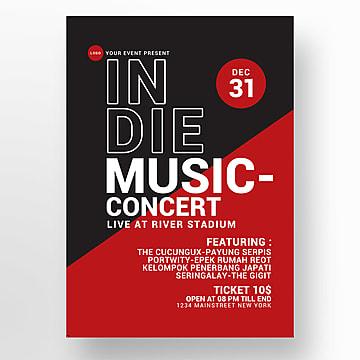 concert de musique indé affiche