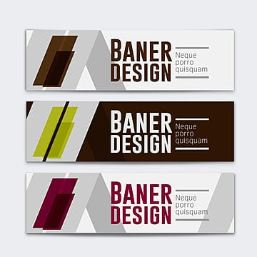 Abstract design banner template