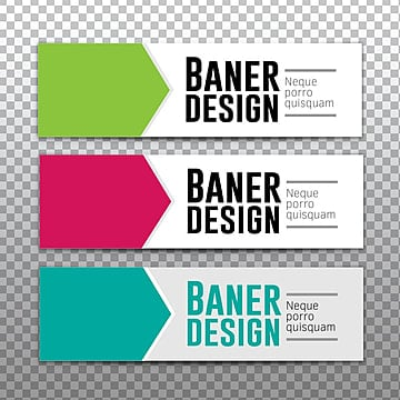 Simple Web Banner vector template