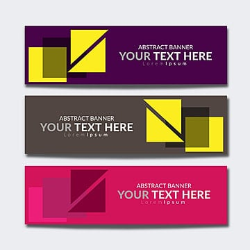 Web banner with geometric shapes