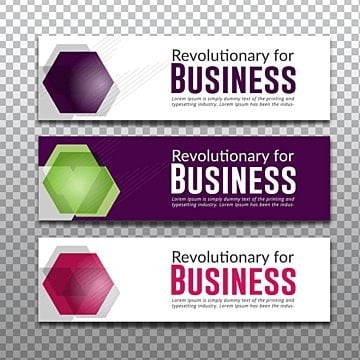 Vector banner with polygonal shapes