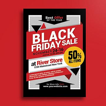 Viernes Negro Venta Poster, Anuncio, El Viernes Negro, Black Friday Flyer PNG y PSD