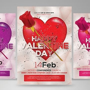 valentine day flyer, Be My Valentine, Beautiful, Beauty PNG and PSD