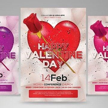 Dia de San Valentin Flyer