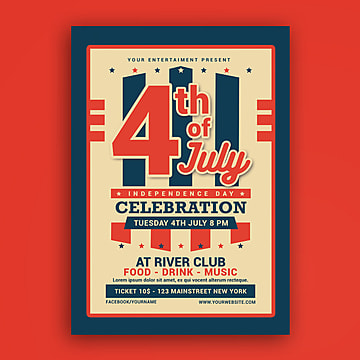4th of July  American independence day USA independence day  Poster Template