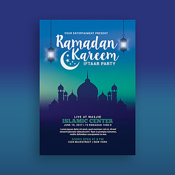 ramadan kareem party poster Template