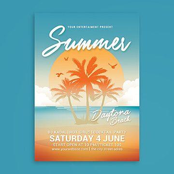 Summer Beach Party, Beach, Beach Party, Bikini PNG and PSD