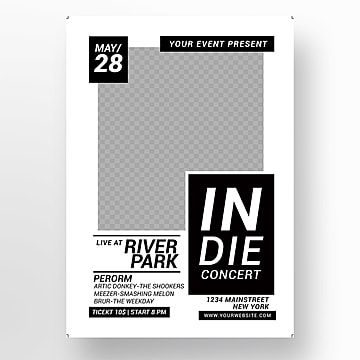 Music poster Templates, 16 Design Templates for Free Download