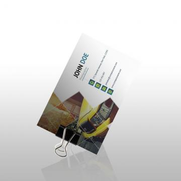 Business card on clip presention psd mock up