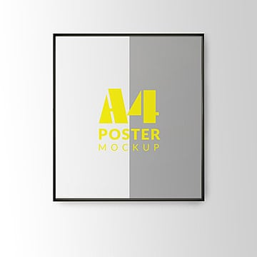 Diseño de cartel presentación con marco PSD mock up