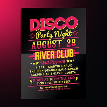 A Noite disco party, Aniversário, Aniversário, ComemoraçãoPNG e PSD