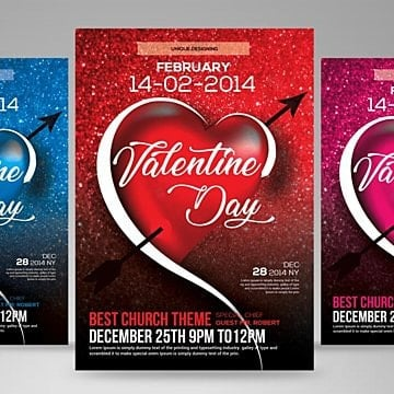 Valentine Day Flyer Templates 26 Design Templates For Free Download