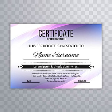 Certificate Premium template awards diploma colorful wave design