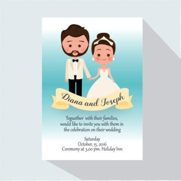 invitation de mariage, Mariage, Invitation, Le CouplePNG et vecteur