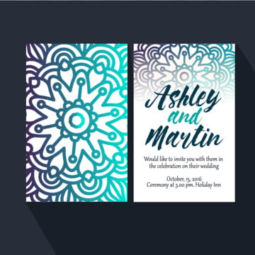Wedding Invitation Mandala, Wedding, Invitation, Mandala PNG and Vector