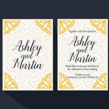 Wdding Invitation Mandala Gold, Wedding, Invitation, Mandala PNG and Vector