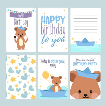 Happy Birthday Invitation Children Boy PNG And Vector