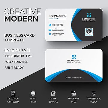 Free Business Card Templates On Pngtree - 35 x2 business card template