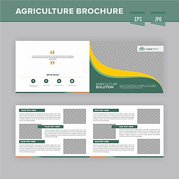 modren agriculture brochure design template a4 brochure annual png and vector